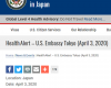 在日米大使館「幅広く検査をしない日本政府の決定によって、新型コロナの罹患率を正確に把握することが困難になっている」